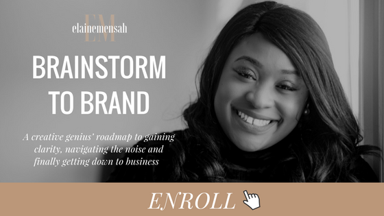 Brainstorm To Brand - ENROLL