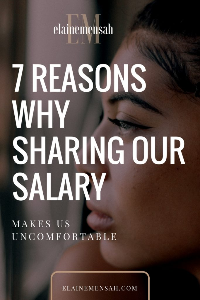 7 reasons why sharing our salary makes us uncomfortable